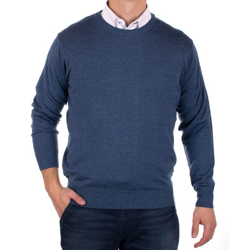 Sweter Kings 100*S-401 4007 półgolf nieb.jeans