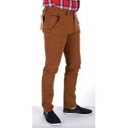 Spodnie męskie chinosy Bridle Italy Rudy roz. pas 88-100 cm