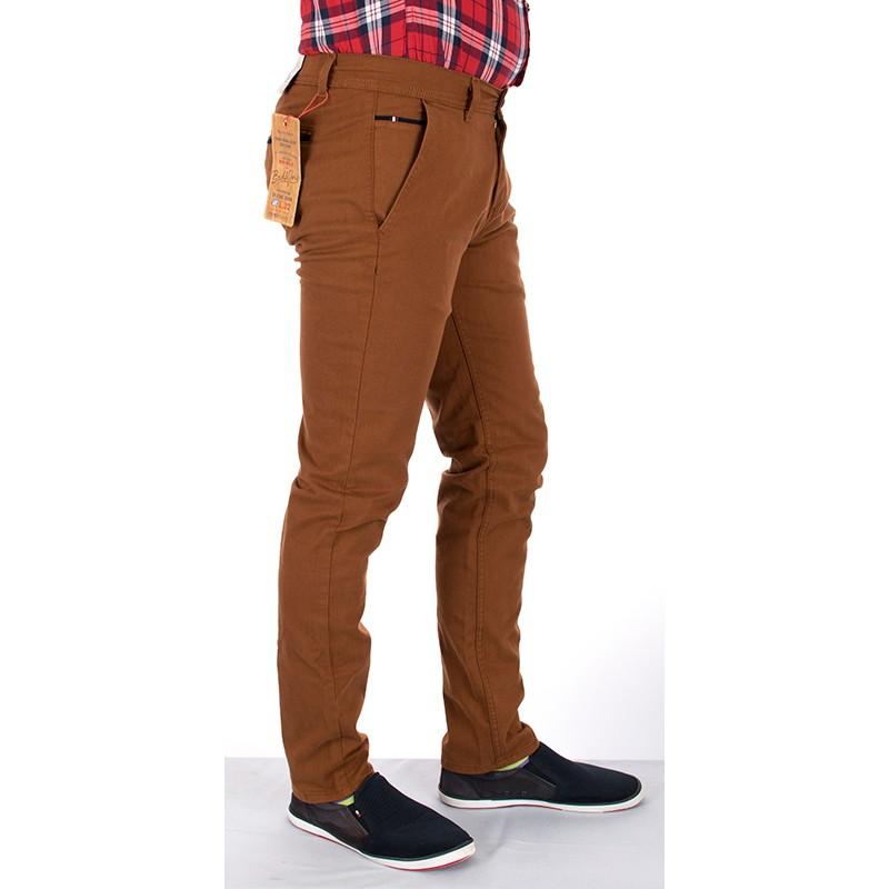 Spodnie chinos Bridle Italy rudy