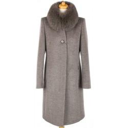 płaszcz Dziekański Marita beż diagonal rozmiar 38 40 42 46 48 52