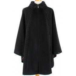 peleryna damska Dziekański 115 czarna w paski rozmiar S M L XL