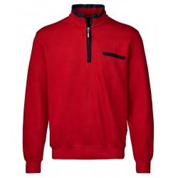 Czerwona bluza z zamkiem bawełniana Belika 10106 121roz. M L XL 2XL