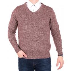 Sweter Ksdulon z wełny melange bordowy roz. L XL