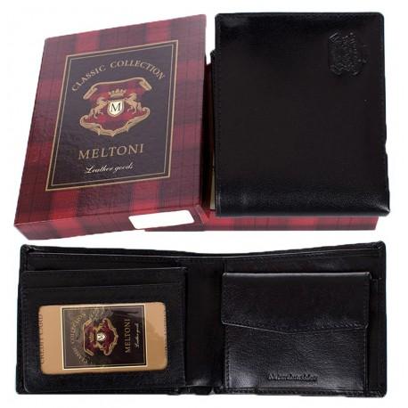 Skórzany portfel Meltoni B4103 czarny