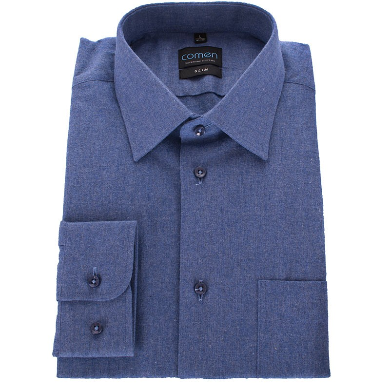 Niebieska flanelowa koszula Comen