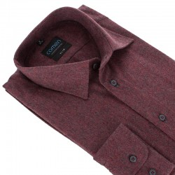Flanelowa koszula Comen w kolorze bordowym z kieszenią M L XL 2XL