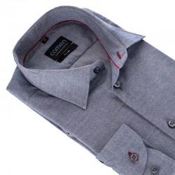Szaro-jeansowa koszula Comen slim z kieszenią 39 40 41 42 43 44 45 46