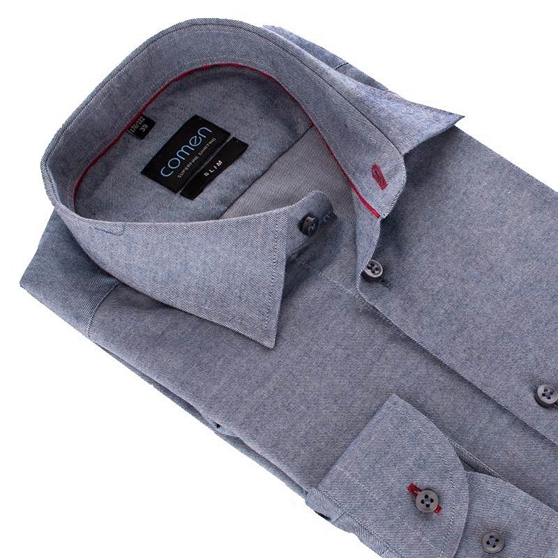 Szaro-jeansowa koszula Comen