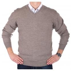 Sweter w szpic Lidos 1003 kolor beżowy rozmiary M, L, XL, 2XL, 3XL