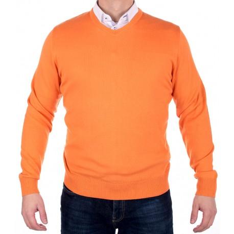 Jordi v-neck J-832 pomarańcz
