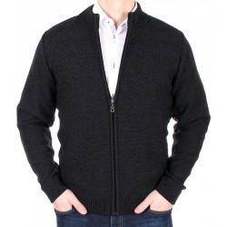 Grafitowy sweter męski Frank Rozpinany prod. Lasota rozmiar M L XL 2XL