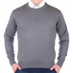 Sweter Kings 100*S-401 4007 szary-popiel pod szyje M L XL 2XL