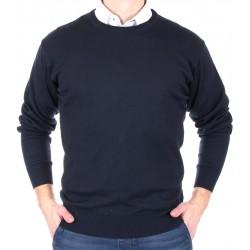 Granatowy, gładki sweter Kings 100*S-401 4007 półgolf M L XL 2XL
