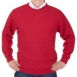 Czerwony sweter U-neck Kings 100*112707 roz. M L XL 2XL
