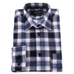 Flanelowa koszula Comen w niebieską kratkę 39 40 41 42 43 44