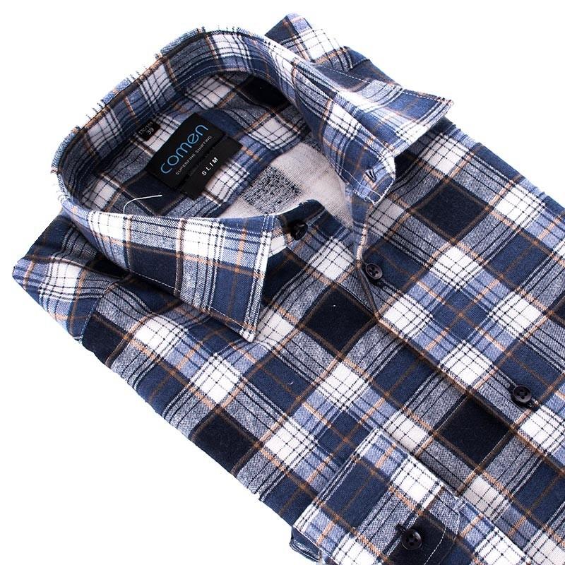 Flanelowa koszula Comen niebieska kratka