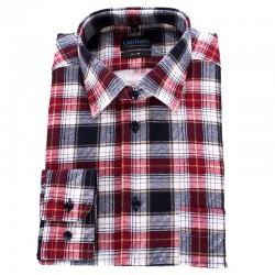 Koszula flanelowa Comen w czerwoną kratkę 39 40 41 42 43 44