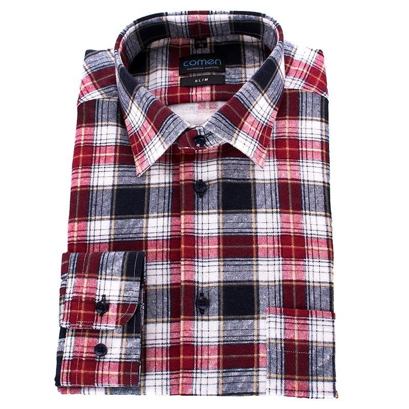 Koszula flanelowa Comen czerwona krata