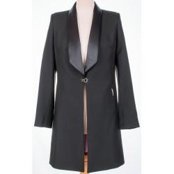 płaszcz Dziekański Filomena 067 czarny rozmiar 38 40 42 44 46