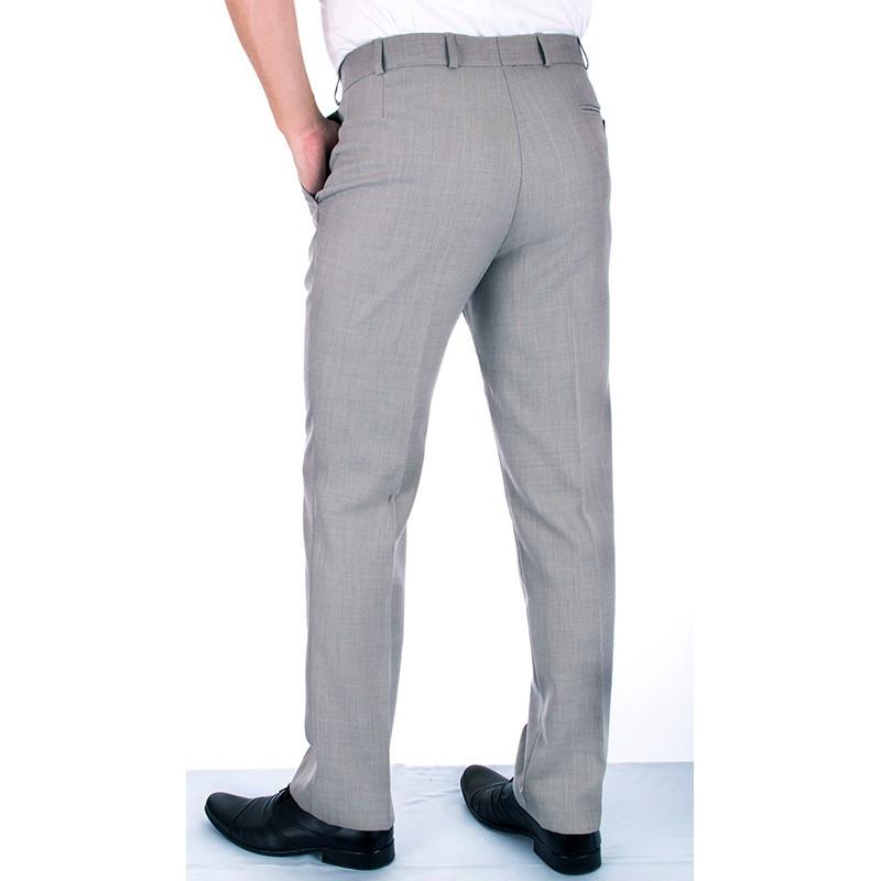 Popielato-szare spodnie w kant Asta wełniane r. 88 - 120 cm
