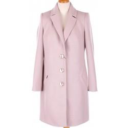 płaszcz wiosenny Huna Kinga beżowo różowy rozmiar 38 40 42 44 46 48 50 52