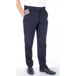 Granatowe spodnie w kant Asta wełniane roz. 88-120 cm