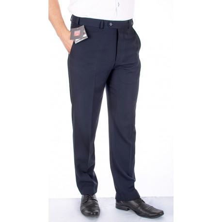Granatowe spodnie w kant Asta