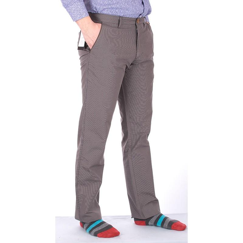 Szare spodnie w krateczkę Lord R-43