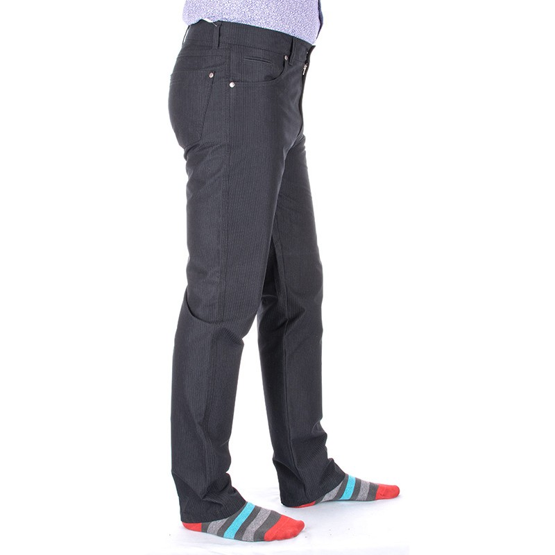 Czarne spodnie Lord R-22 niezwężane
