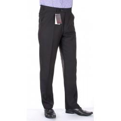Proste czarne spodnie Lord wełniane w kant roz. 78 -114 cm