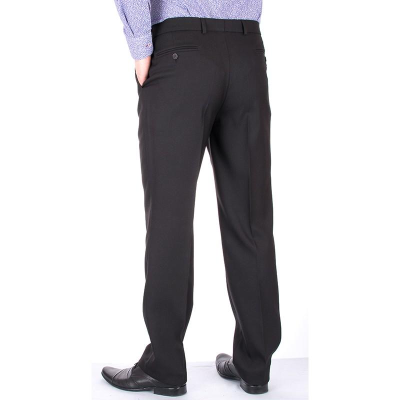 czarne proste spodnie Lord w kant