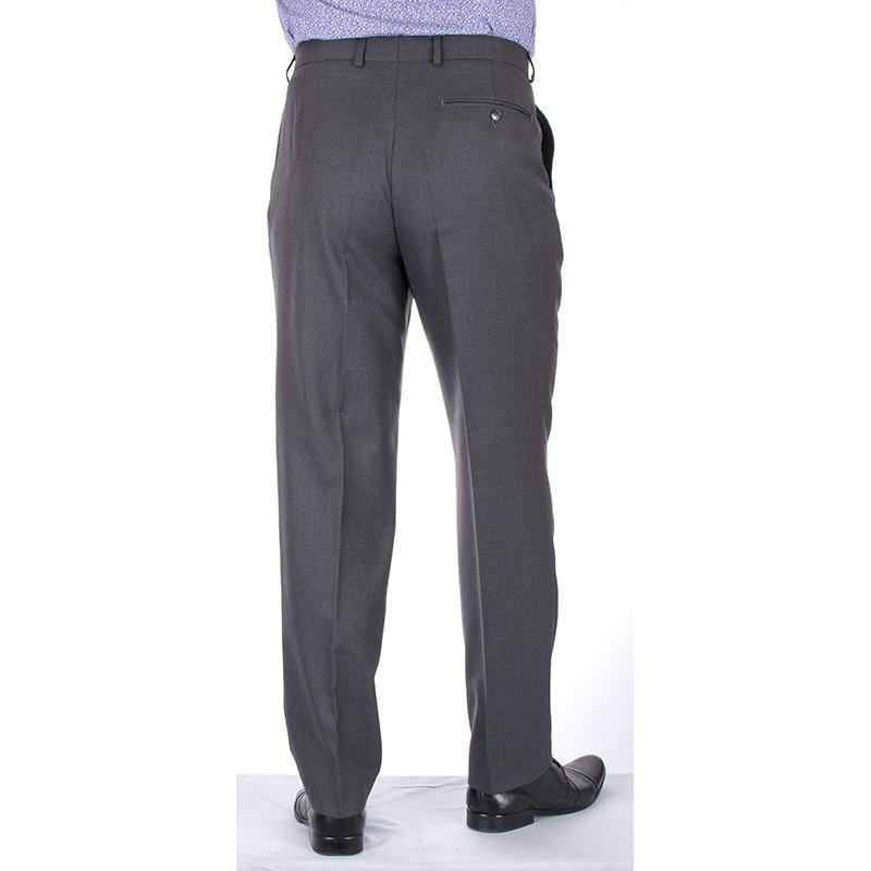 Grafitowe proste spodnie Lord w kant