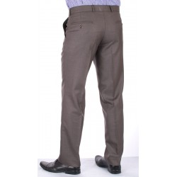 Proste spodnie Lord Sp.143 wełniane w kant oliwka roz. 78 -114 cm