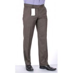 Proste spodnie Lord Sp.142/p wełniane w kant khaki roz. 82 -114 cm