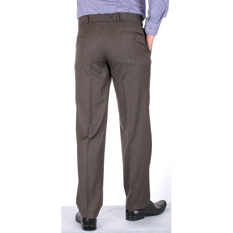 proste spodnie Lord w kant Sp.142 - szare khaki