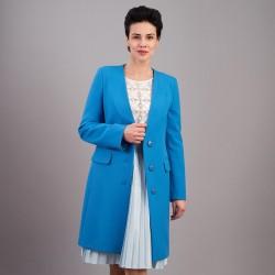 płaszcz wiosenny Dziekański Oktawia niebieski rozmiar 38 40 42 46 48