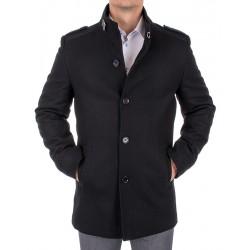 Płaszcz wełniany zimowy Lansier Cezar czarny r. 50 52 54 56 58 60 62