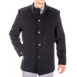 Czarny płaszcz wełniany Natan rozmiary 50 52 54 56 58 60