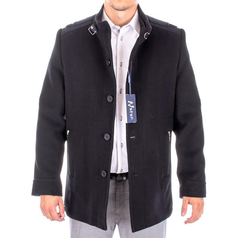 płaszcz Natan wełniany czarny