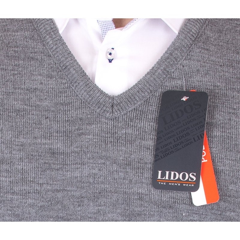 Szaro-popielaty bezrękawnik Lidos 1002