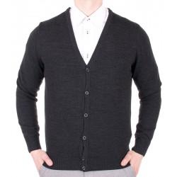Sweter Lidos 1004 na guziki w kol grafitowym roz. M, L, XL, 2XL, 3XL