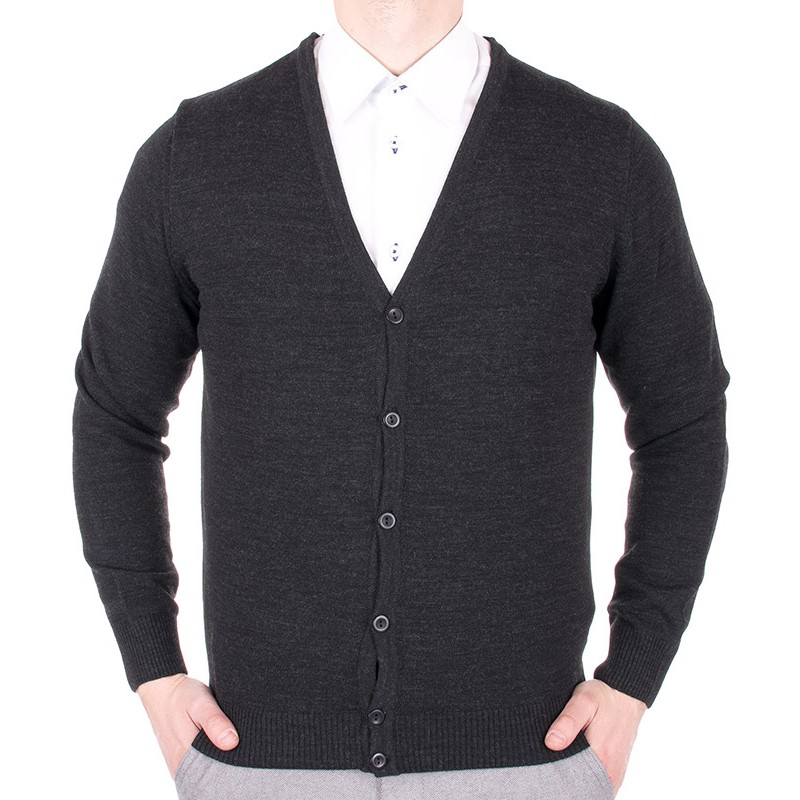 sweter, kardigan męski Lidos 1004 grafitowy