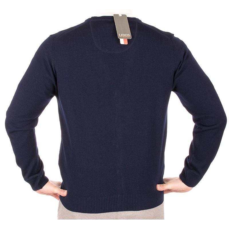 sweter kardigan Lidos 1004 granatowy na guziki