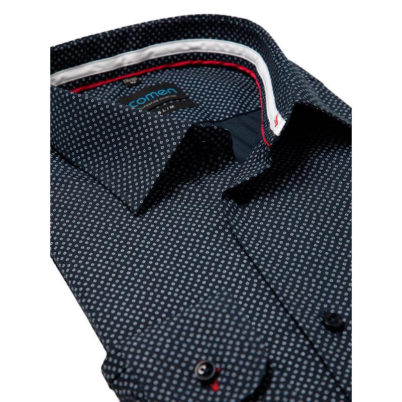 koszula z długim rękawem Comen granat ze wzorem