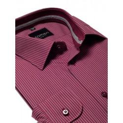 Bordowa koszula Comen slim z długim rękawem 39 40 41 42 43 44 45 46