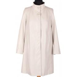 płaszcz wiosenny Biba Atena jasny beż rozmiar 44 46 48 50 52 54