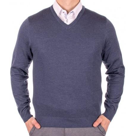 Sweter w szpic Lanieri 10-101-11 niebieski jeans 248