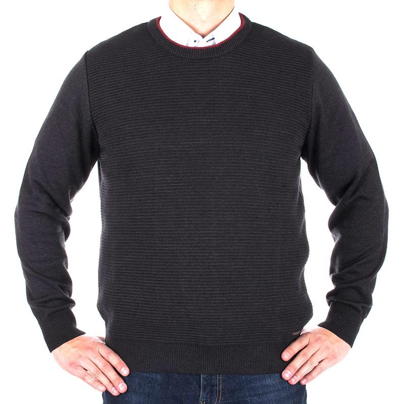 sweter Lasota Hermes pod szyje grafit