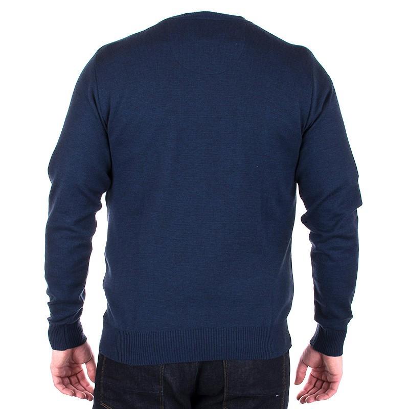 sweter Jordi J-833 granatowy pod szyje