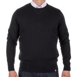 Sweter męski Jordi J-833 gładki czarny u-neck r. M, L, XL, 2XL, 3XL